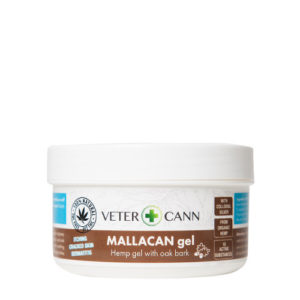 Vetercann mallacan hemp gel for pets skin