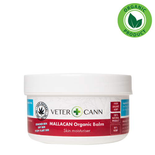 VETERCANN MALLACAN ORGANIC HEMP BALM for pets skin